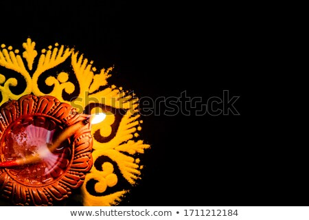 ストックフォト: ディワリ · 美しい · 装飾 · 石油ランプ · 祭り · お祝い