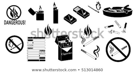 vlammende · groene · meteoor · cartoon · textuur · hand - stockfoto © pxhidalgo