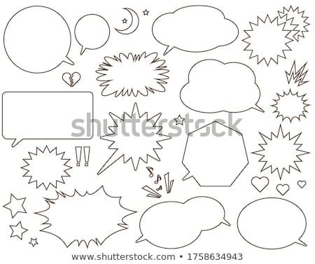 ヴィンテージ · バブル · 音声 · ツリー · カラフル · メッセージ - ストックフォト © adamson