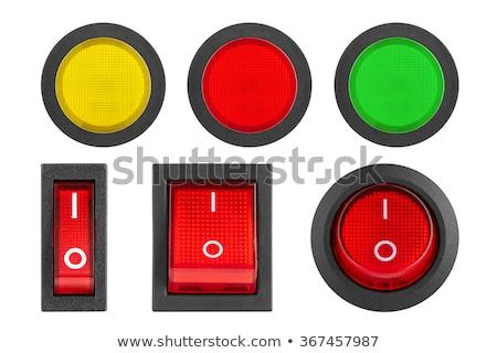 赤 スイッチ 複数 電気 ソケット クローズアップ ストックフォト © Koufax73