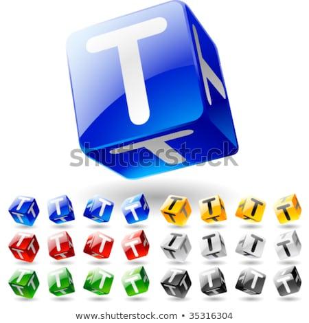 Letter T on Childrens Alphabet Block. Stock photo © tashatuvango