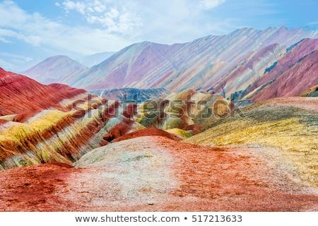 Landscape of Danxia landform Stock photo © bbbar