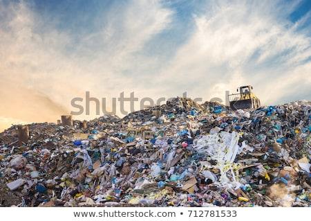 hegy · szemét · hulladék · szeméttelep · helyszín · szennyezés - stock fotó © lightsource