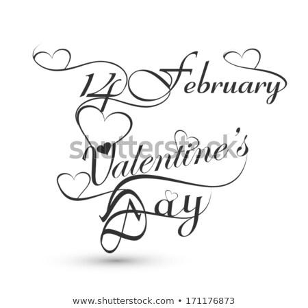 Belo dia dos namorados elegante texto projeto ilustração Foto stock © bharat