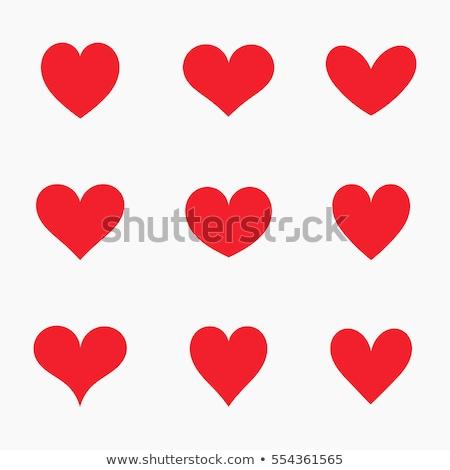 Szimbolikus szív illusztráció piros fehér egészség Stock fotó © brux