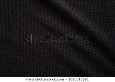close up of black silk textured cloth Stock photo © mycola
