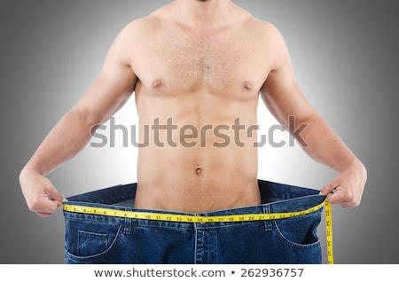 человека диеты джинсов счастливым здоровья Сток-фото © Elnur