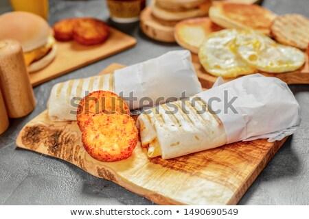 Heerlijk brood picknicktafel buitenshuis wolken Stockfoto © stevanovicigor