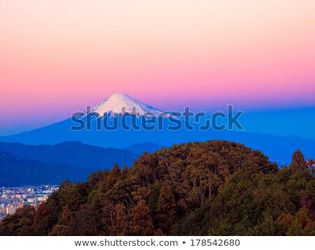 zonsondergang · Mount · Fuji · water · natuur · sneeuw · berg - stockfoto © shihina