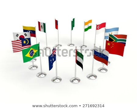Argentina Small Flag On A Map Background Stock Photo Illia - Argentina map small