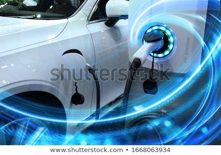 Batterij elektrische auto elektrische voertuig technologie kabel Stockfoto © wellphoto