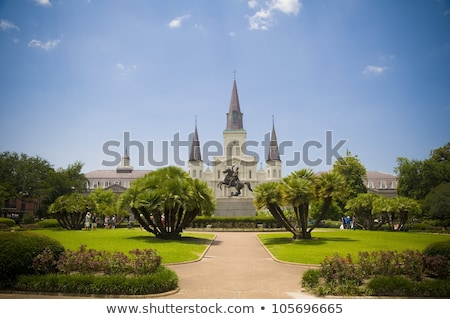 Beautiful Saint Louis Cathedral in the French Quarter in New Orl Stock photo © meinzahn