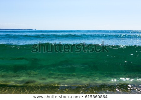 Homok lát víz tengerpart természet keret Stock fotó © meinzahn
