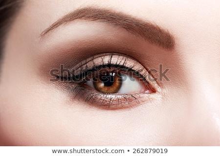 primer · plano · ojo · maquillaje · hermosa · cara - foto stock © vlad_star