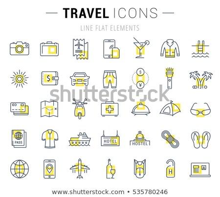 vacaciones · de · verano · objetos · establecer · verano · vacaciones · colección - foto stock © robuart
