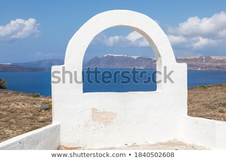 Fira, the capital of Santorini island, Greece. Traditional architecture on cliff Stock photo © photocreo