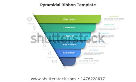 the colorful pyramid Stock photo © flipfine