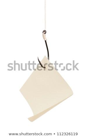 paper on a fishhook Stock photo © flipfine