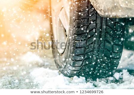 tél · autógumi · közelkép · autók · autógumik · út - stock fotó © smuki