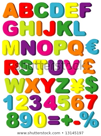 buzdolabı · mıknatıslar · mektup · ahşap · çocuk - stok fotoğraf © creisinger