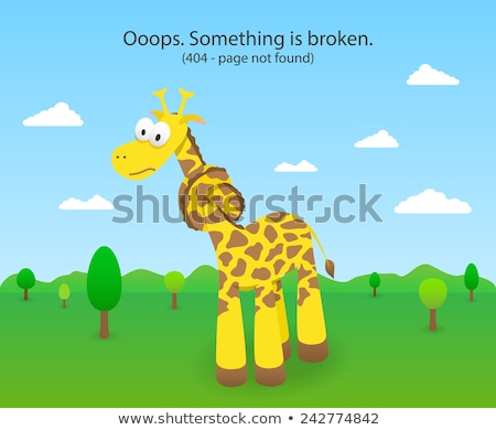 404 error page with knotted giraffe. 404 Page not found site. Stock photo © liliwhite
