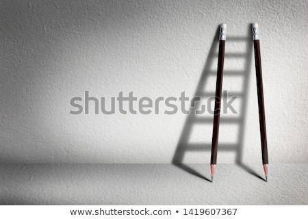 Carriera vantaggio business imprenditore piedi alto Foto d'archivio © Lightsource
