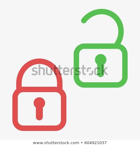Unlock Red Vector Icon Design Stock photo © rizwanali3d