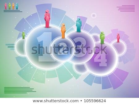 Venda conceitos conjunto por cento ilustrações crescimento Foto stock © tashatuvango