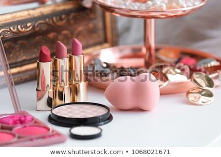 Dekoratív kozmetika szépség női smink rúzs Stock fotó © phbcz