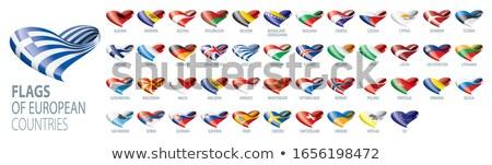 Szlovénia zászló terv felirat csillagok kék Stock fotó © dip