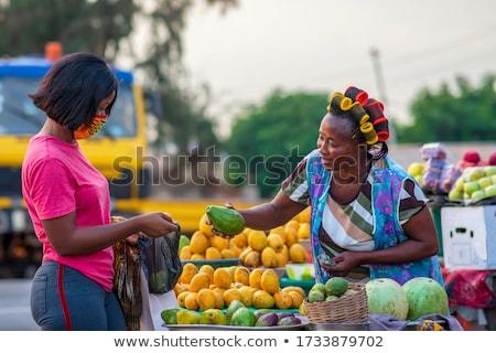販売 市場 食品 フルーツ オレンジ ストックフォト © elxeneize