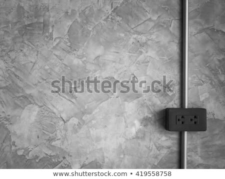 стены черный три белый электрических Plug Сток-фото © bendzhik