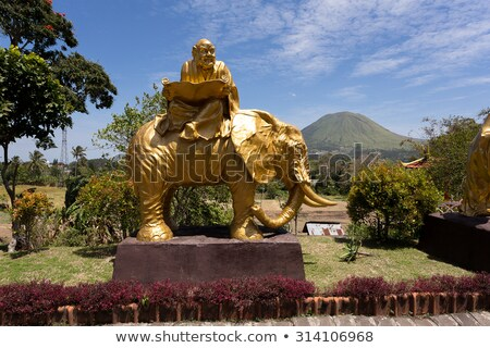 Yağ keşiş heykel karmaşık pagoda kasaba Stok fotoğraf © artush