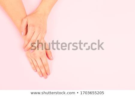 Women's hands with a stylish manicure. Stock photo © bezikus