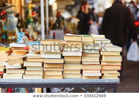 старые книгах блошиный рынок продажи улице магазин Сток-фото © Juhku