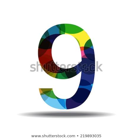 Szám körkörös vektor kék webes ikon gomb Stock fotó © rizwanali3d