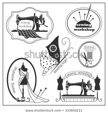 hand drawn sewing lable stock photo © netkov1