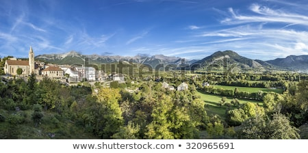 skyline of Seyne les Alpes in the french Region provence des hau Stock photo © meinzahn