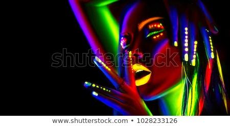 genç · güzel · yalınayak · kadın · siyah - stok fotoğraf © svetography