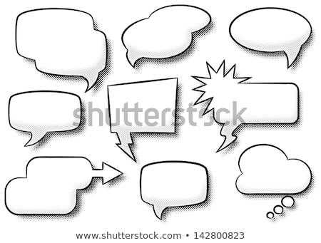 szövegbuborékok · eps · vektor · akta · terv · háttér - stock fotó © beholdereye