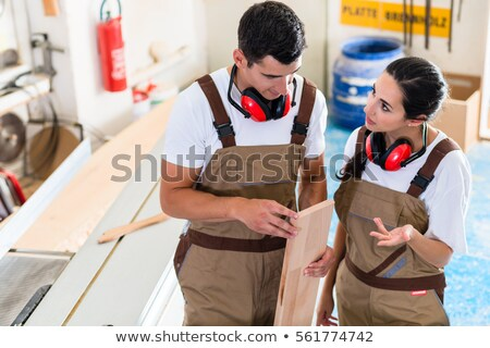 Cabinet maker marking board for cutting Stock photo © Kzenon