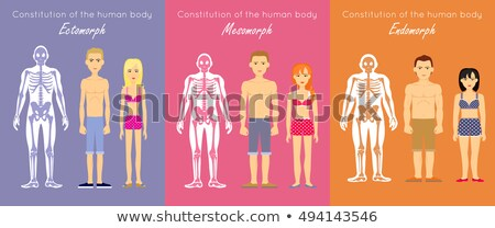 Ectomorph Body Type Woman and Man Stock photo © robuart