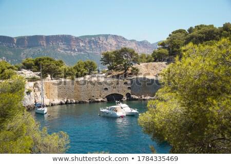 boat on Mediterranean Sea, , France Stock photo © phbcz