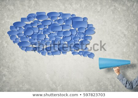 trumpet and communication cloud stock photo © bluering