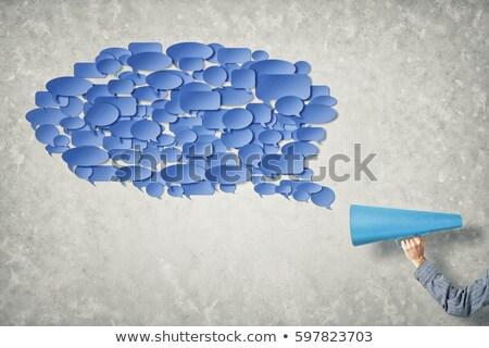 Trompet iletişim bulut örnek arka plan sanat Stok fotoğraf © bluering