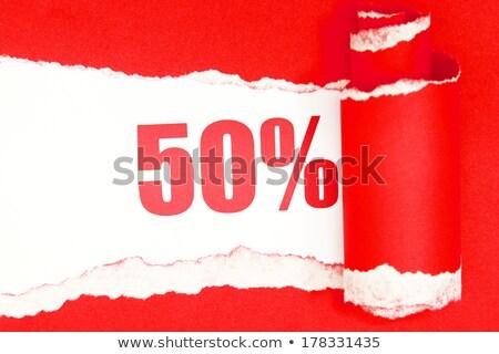Vermelho cinqüenta por cento assinar isolado branco Foto stock © Oakozhan