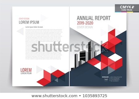company leaflet design with pattern decoration Stock photo © SArts