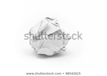 Crumpled paper ball in recycle bin Stock photo © SwillSkill