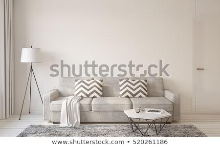 Moderne bank kamer sofa zitting stoel Stockfoto © albund