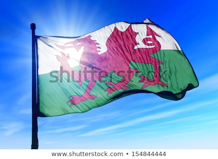 Wales flag in blue sky Stock photo © Koufax73